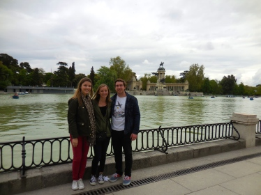 Me, Ellie and Scott at Retiro - 4/16/15