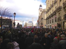A political protest in Puerta del Sol - 1/31/15