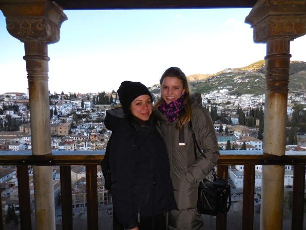 Hallie and Me at La Alhambra, Granada - 2/6/15