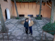 Hallie and Reed at La Alhambra, Granada - 2/6/15