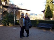 Reed and Me at La Alhambra, Granada - 2/6/15