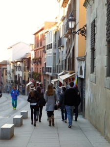 Our group walking through Granada - 2/6/15