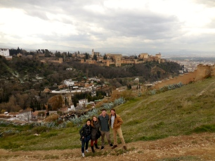 Janice, Alden, Reed and Me at El Albayzín, Granada - 2/7/15