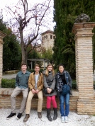 Alden, Reed, Janice and Me in Granada, Spain - 2/7/15