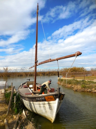 Our boat for the visit of the Albufera - 2/21/15