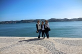 Alayna, Sofia and me in Belém - 2/27/15