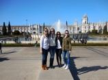 Alayna, Sofia, Emily and me in Belém - 2/27/15