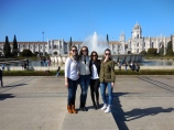 Alayna, Sofia, Emily and me in Belém - 2/27/15