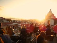 Park Rooftop Bar at sunset in Lisbon - 2/27/15