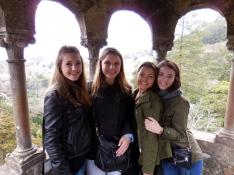 Alayna, Sofia, Emily and me at Quinta da Regaleira in Sintra - 2/28/15