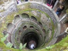 27 m deep well at Quinta da Regaleira in Sintra - 2/28/15