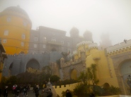 So much fog over the Palacio Pena