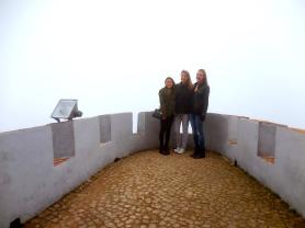 Foggy day at Palacio Pena with Sofia and Alayna at Palacio Pena - 2/28/15