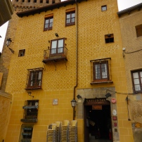 One of many textured walls in Segovia - 3/13/15