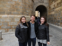 Reed, Emily and me sporting our dark denim, grey top, black jacket ensembles - Segovia 3/13/15
