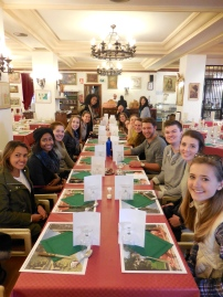 One of many group meals from this weekend - Segovia 3/13/15