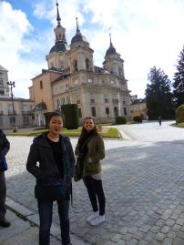 Janice and Madi outside of Royal Palace of La Granja de San Ildefonso - Segovia 3/13/15