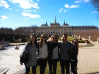 Emily, Alayna, Reed, Olivia and me outside of the Royal Palace - Segovia 3/13/15