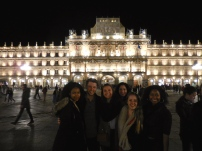 Plaza Mayor with Julianna, Reed and Madi - Salamanca, 3/13/15