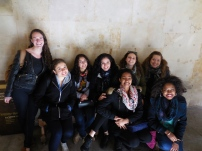 All my curly haired friends: Nicolette, Hallie, Ashima, Minerva, Austin, Madi, Emilia and Julianna - Universidad de Salamanca 3/14/15