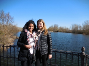 Austin and me at El Rio Tormes, Salamanca - 3/14/15