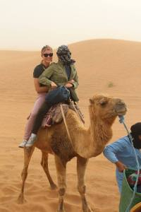 Janice and me sharing our camel - 4/18/15