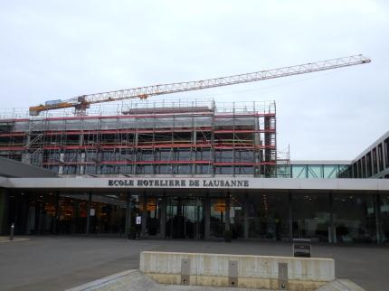 New construction at Ecole hôtelière de Lausanne - 3/20/15