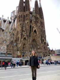 Me at La Sagrada Familia - 3/30/15