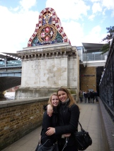 Lovely run-in with Olivia, a fellow Theta, along the River Thames - 3/31/15