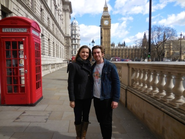 Scott and me by Big Ben - 3/31/15