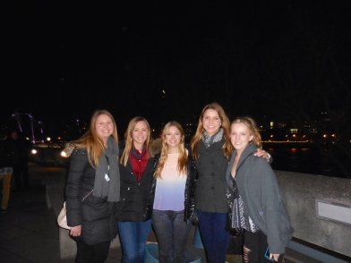 Margaret, Ellie, Alyse, me and Rachel - 3/31/15