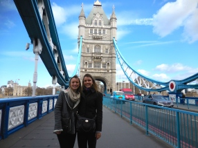 Ellie and me at the Tower Bridge - 4/1/15
