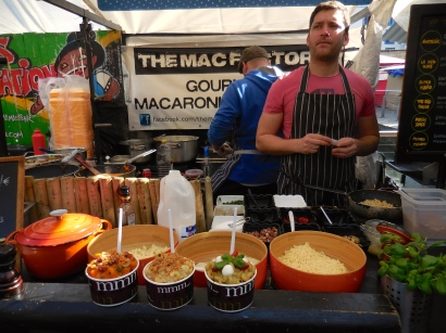 The best macaroni and cheese at Camden Lock Market - 4/2/15