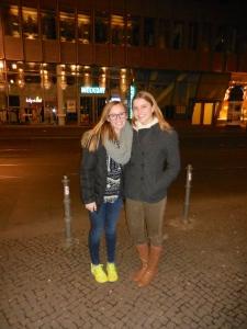 Ellie and me at Hans im Glück Burgergrill - 4/5/15
