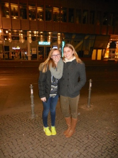Ellie and me at Hans im Glück Burgergrill - 4/5/15