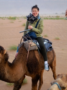 Janice on her camel - 4/17/15