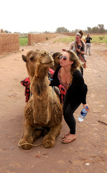 Jenna and her camel - 4/18/15