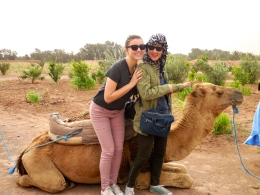 Janice and me with the camel we rode together - 4/18/15