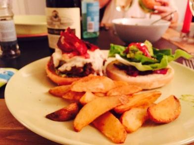 Homemade burger - 3/21/15