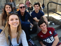 Friends outside the Cathedral Paula, MIchael, Tom, Me, Noah) - 3/28/15