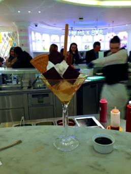 Ice cream sundae from Harrod's - 4/1/15