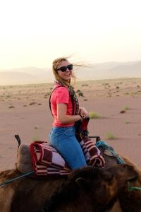 Camel riding in the Sahara  - 4/17/15