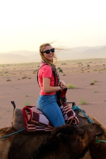 Camel riding in the Sahara  - 4/17/15